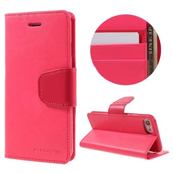 Image of   iphone 7/8 Goospery] SONATA DIARY CASE Wallet Card - Magenta / under updatering